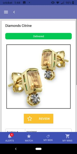 Beautiful Diamond(.010 ctw) and Citrine (1.3ctw)Earrings for Sale in Surprise, AZ