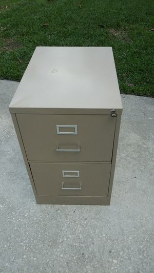 2 Draw Legal File Cabinet With Key for Sale in Wellington, FL