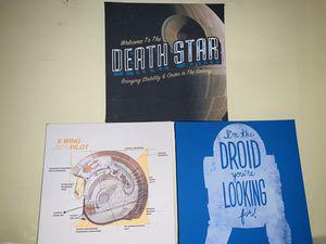 Star Wars Canvas Wall Art Set for Sale in Altadena, CA