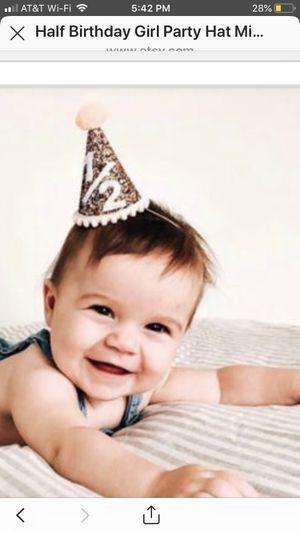 Cute milestone hat. 1/2 birthday for Sale in Walnut Creek, CA