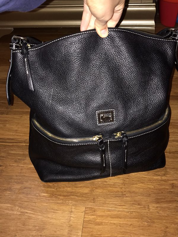 Authentic Dooney and Bourke leather hobo bag