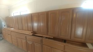Solid wood kitchen cabinets for Sale in San Antonio, TX