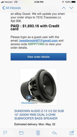 Sundown Audio Subwoofers for Sale in Aliquippa, PA