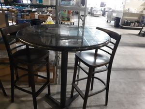 Marble bar table with 2 bar stools for Sale in Fort Myers, FL