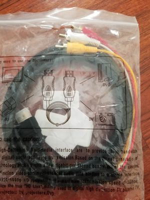 New hdmi to RCA cable red white yellow for Sale in Long Beach, CA