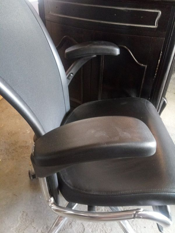 Black seat leather Chair for desk