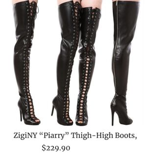 Sexy ZigiNY Girl PIARRY Thigh-High Boots Black 7.5 for Sale in Palmdale, CA