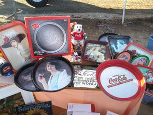 Vintage Coca Cola Tin Trays and More for Sale in Hemet, CA