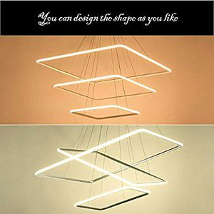 ROYAL PEARL LED Light 3-Ring Chandeliers Ceiling Silver for Sale in Ontario, CA
