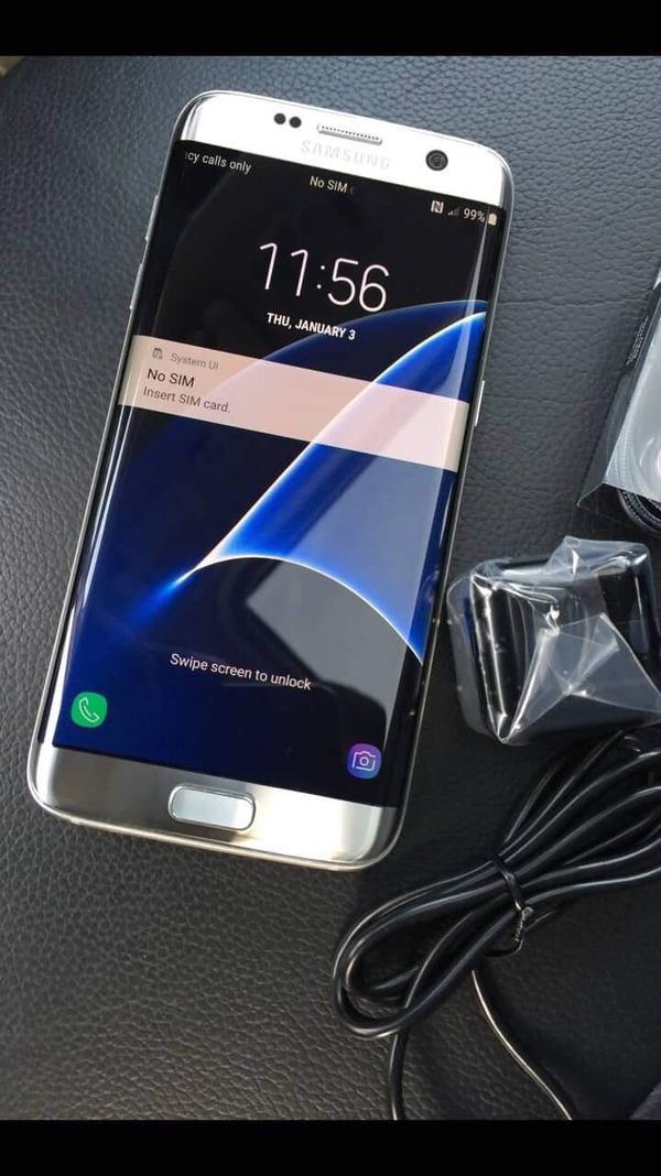 Samsung galaxy s7 edge- just like new with accessories + clean IMEI