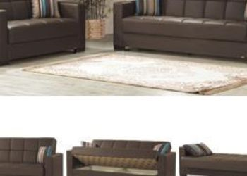 Brown Sofa Sleeper With Storage for Sale in Queens,  NY