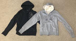2 Women's zip up hoodies sweatshirts jackets for Sale in Lewisville, TX