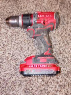 Craftsman Hammer Drill and 20v Battery for Sale in Kansas City,  KS