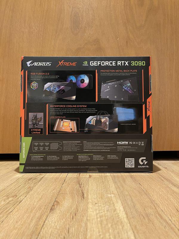 RTX 3090 AORUS Xtreme Waterforce NEW w/ Receipt