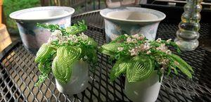 2 flower pots 2 beaded flowers for Sale in Rockaway, NJ