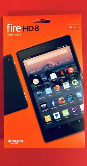 Amazon Fire HD8 Tablet - Unlocked - Price firm. Pickup in Elizabeth for Sale in Elizabeth, NJ