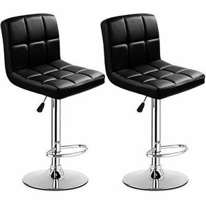 Brand new never used black leather bar stools set of 2 for Sale in Gaithersburg, MD