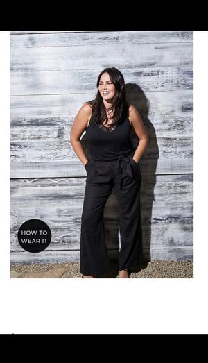 Torrid Women's Plus Size Clothes, Casual Black Linen Wide Leg Pants for Sale in Carpinteria, CA