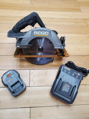 """Ridged 7 ¼"""" Circular Saw 18V with Battery and Charger R8653 for Sale in Framingham, MA"""