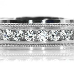 1789WG MENS 14K WHITE GOLD DIAMOND WEDDING BAND RING 6mm 9.6GRAMS for Sale in San Diego, CA