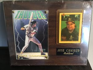 Jose Canseco MLB 1990 Bowman Baseball Card Photo Plaque for Sale in Goodlettsville, TN