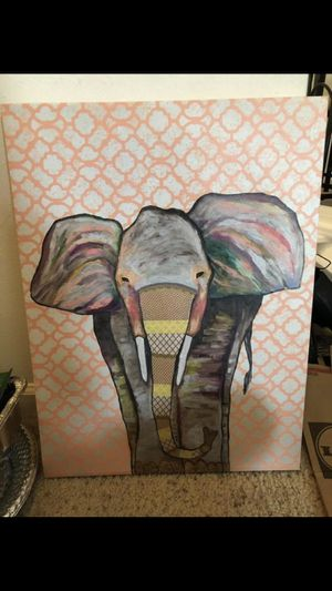 Elephant canvas for Sale in Manassas, VA