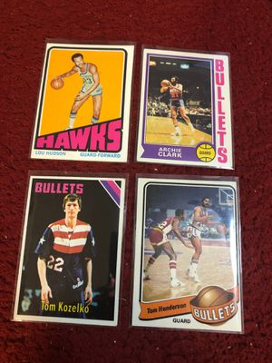 Vintage 1970's basketball cards all 4 for $2.00 total for Sale in Beltsville, MD