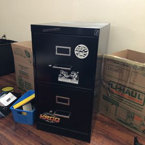 2 Drawer Black File Cabinet for Sale in Long Beach, CA