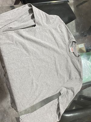 Long sleeve grey supreme tee for Sale in Columbus, OH
