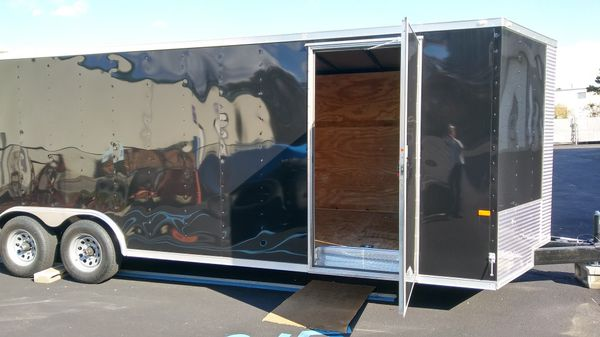 24' Enclosed Aluminum Vnose Trailer