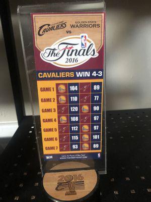 Cavs 2016 finals championship score ticket replica for Sale in Akron, OH