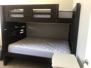 Bunk Bed Full Over Full With Ladder, 6 Drawers And Brand New Mattresses for Sale in Carlsbad, CA