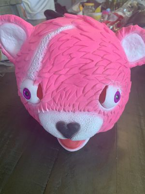 FORTNITE Halloween Party Prop Mask Cuddle Team Leader Pink Teddy Bear Cosplay for Sale in San Bernardino, CA