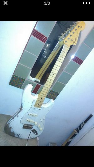 1968 Replica White Strat Relic. Will trade for an iPhone 8 or higher. for Sale in Pasadena, CA