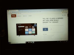 55 inch tcl roku 4k smart tv for Sale in Phoenix, AZ