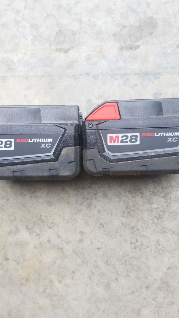 Two m28 red lithium good no charger