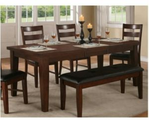 Line Antique Walnut Solid Wood Dining Table for Sale in Ontario, CA