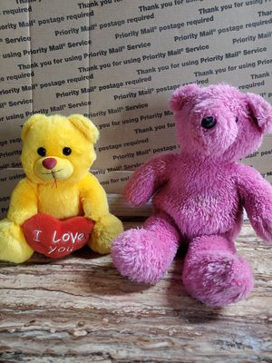 Pink and yellow teddy bears for Sale in Dearborn, MI
