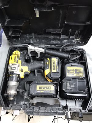 DeWalt DCD985 20V MAX 3 Speed Hammer Drill with (2) 3.0Ah Batteries, Charger and Cade for Sale in Hollywood, FL