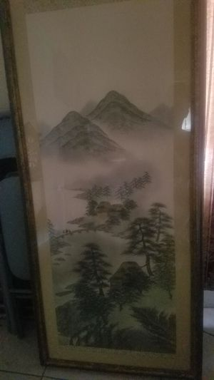 Silk Chinese landscape painting for Sale in Jacksonville, FL