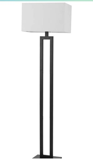 "Globe Electric 67046 D'Alessio 58"" Floor Lamp, Matte Black, White Linen Shade, On/Off Socket Rotary Switch for Sale in Plainfield, NJ"
