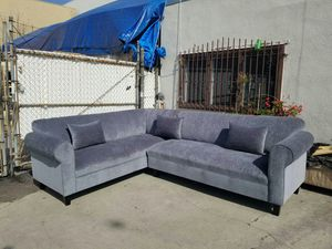 NEW 7X9FT BARCELONA SLATE FABRIC SECTIONAL COUCHES for Sale in Redlands, CA