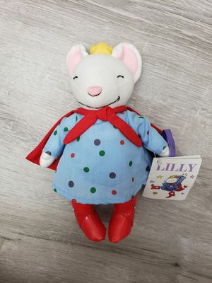 Nwt Lilly Mouse Purple Plastic Purse Plush Stuffed Animal for Sale in Arlington, VA