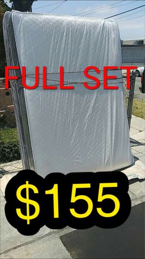 Full mattress and box spring for Sale in Inglewood, CA