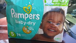 Pampers size 5 for Sale in Inman, SC