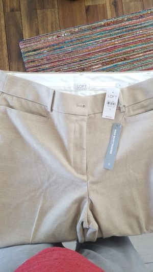 NWT LOFT size 12 Sand colored High Waist Trouser for Sale in Bartlett, IL