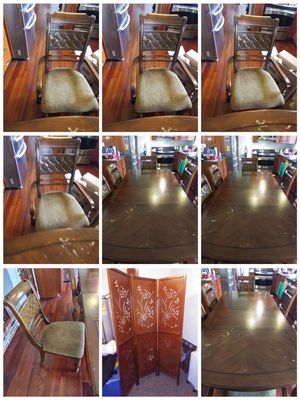 Dining table with best quality wood for best deal with good condition. for Sale in Vancouver, WA