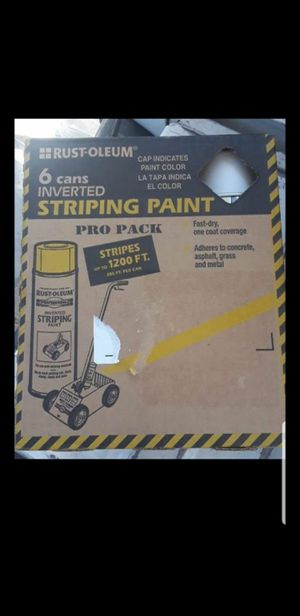 New Rust-Oleum Striping Paint -6Cans ☆Pick up only☆ for Sale in Glendale, AZ