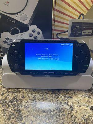 PSP 1000 Modded (Black) 64Gb MicroSD 84 PSP games for Sale in Orlando, FL