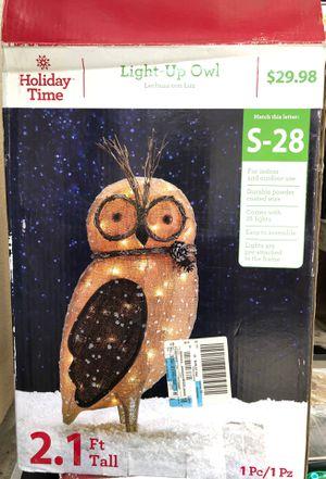 Christmas owl decor for Sale in Pico Rivera, CA